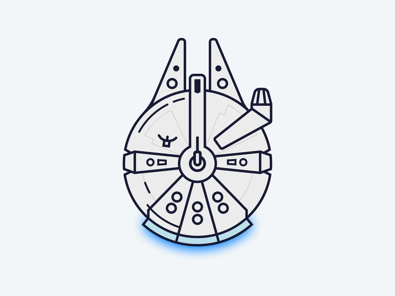 Millenium Falcon vector for fun design graphic design illustration star wars millenium falcon