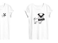 Pug t-shirt Diamante Wear