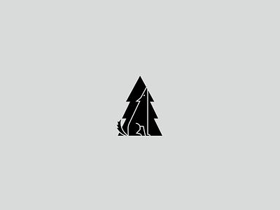 Dog dog tree logo