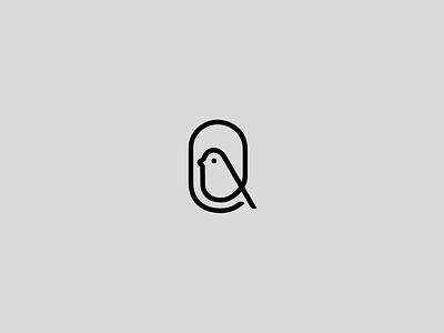 Bird nest oneline logo minimal