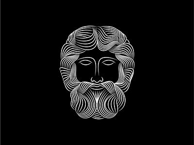 Philosophy logo line beard greek hair