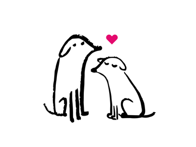 Love dog dogs drawing cute