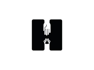 H logo letter h logotype dog cat human