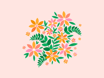 Wildflowers plants joy love cute pretty happy floral wildflowers color nature botanical flower flowers drawing illustration vector design graphic design visual design