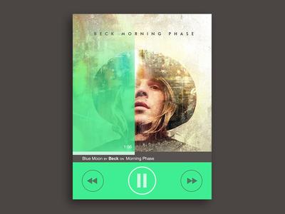 Music Player Widget Study/Concept