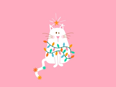 Christmas Cat funny cute christmas cat happy holidays holidays merry christmas christmas cat illustration cats cat illustrations illustrator art drawing illustration art graphic graphic design design illustration visual design