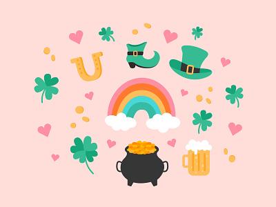 Happy St. Patrick's Day! lucky rainbow st patricks irish st patricks day drawing art illustration art illustrations cute vector graphic design design illustration visual design