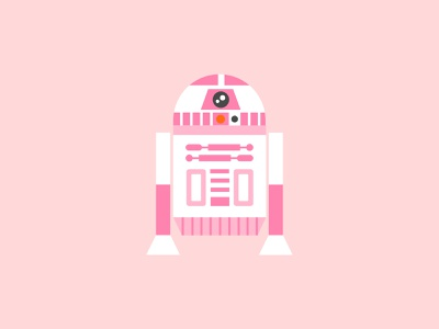 Pink2D2 cartoon characters pink robot disney cute vector graphic design design visual design art illustration may the 4th be with you may the force be with you may the 4th star wars r2d2