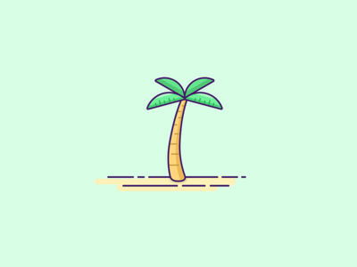 Palm tree vacation plant tree palm tree vector drawing graphic graphic design visual design symbol icon illustration