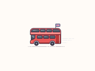 London Calling? Right oh! bus double decker bus british england london visual design symbols icons vector graphics graphic design illustration