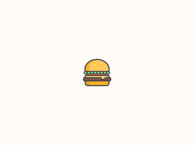 Burgers on the brain vector logo icon food burger graphic visual design illustration