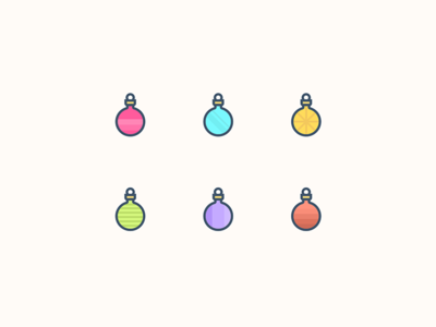 Christmas tree balls! christmas tree color ornaments holidays symbol logo vector graphic visual design illustration