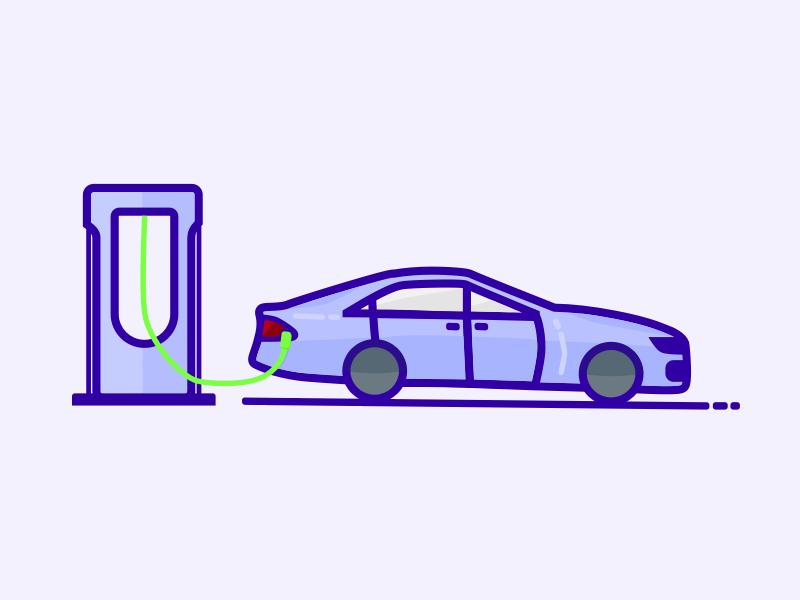 Charging a Tesla Model S internship charging electric car model s tesla