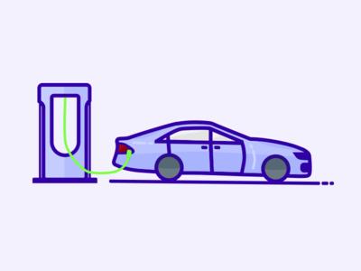 Charging a Tesla Model S