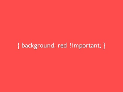 If in doubt red css coding