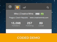 Dribbble Widget - Coded Demo