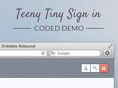 Teeny Tiny Sign in login form form login sign in coded demo jquery oykun david hill teeny tiny small login tiny login