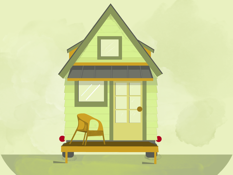 Tiny House Illustration By James Sample