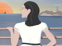 Girl on the wharf
