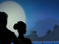 Silhouette in the Moonlight