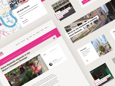 Website for one of London's Business Improvement Districts agency website website design design system components simple business proffesional web website webdesign design typography