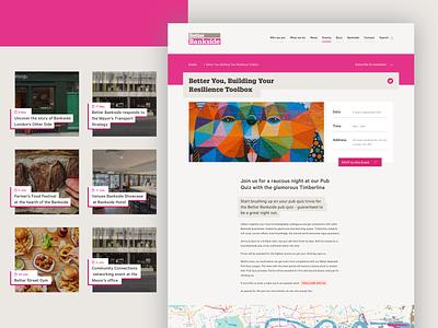 Website for one of London's Business Improvement Districts webdesign branding ui proffesional typography design system website design design web website