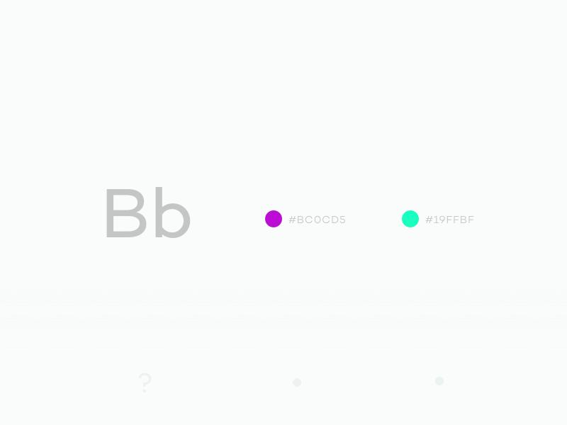Typehue B colours typography challenge design typehue