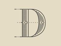 #Typehue 4: D  type vintage dropcap ink typography challenge design typehue