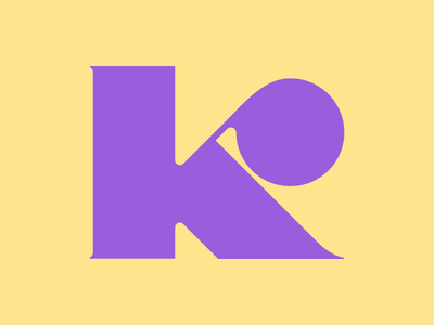 K by Magdalena Rogier via dribbble