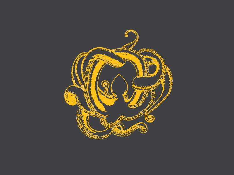 Typehue O - Octopus progress yellow sketch image traced typography challenge typehue 36daysoftype illustration octopus