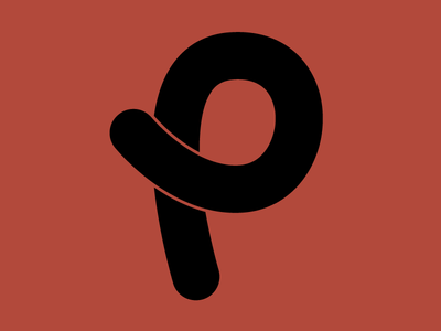 #Typehue P typedesign handlettering script type typography 36daysoftype black red typehuepurist p typehue