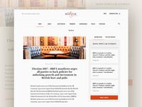 Beer and Pub Association Website