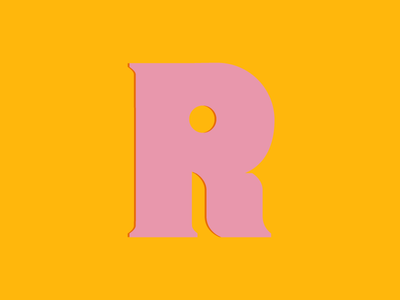 Typehue #R typedesign handlettering script type typography 36daysoftype yellow pink r typehue