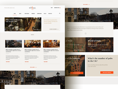 Beer and Pub Association Homepage tiles association type agency home homepage ui design typography webdesign web website