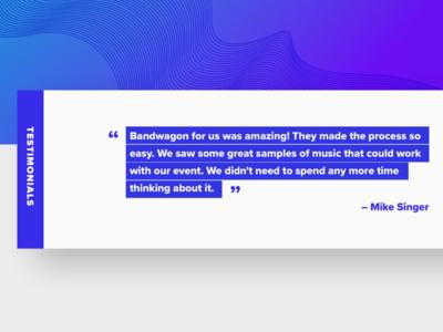 Testimonial webdesign web team services product design interface music flat testimonial contact agency