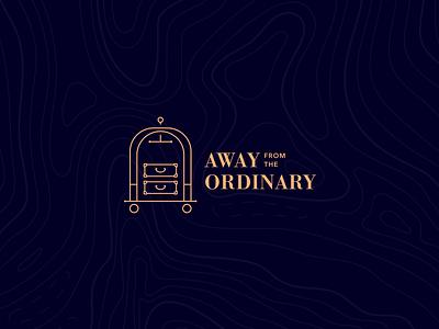 Branding startup suitcase serif gold luxury travel logotype logo branding