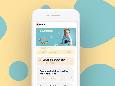 Dots – Parenting Platform from Action for Children dots responsive filters tiles design mobile ui
