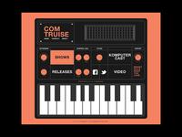 Com Truise Synthesizer Web Design