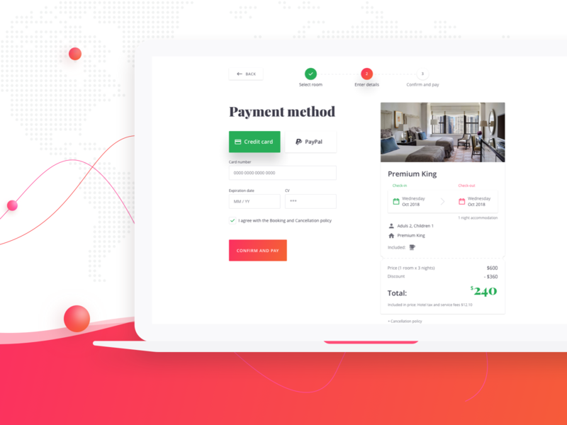 Booking Platform - Payment web color travel ux process uidesign graphic design interface payment booking sketch