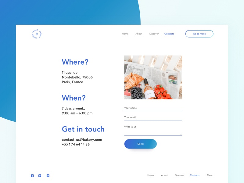 Web builder: Contacts template dashboard bakery minimalism contact us site builder web builder daily logo typography ux ui graphic interface design web sketch