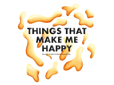 Things that make me happy... project abstract mental health logo lifestyle type procreate drawing vector illustration design graphic design