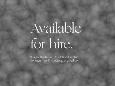 Available for hire. after effects animation after effects please freelance hire available motion graphic motion design animation motion typography design graphic design
