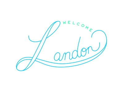 Welcome Landon type art type design logo welcome baby type typography illustration vector design graphic design