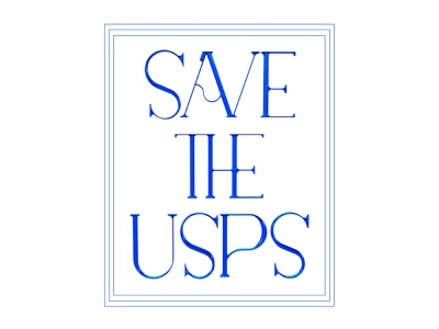 SAVE THE USPS line 3d type 3d vector type typography illustration design graphic design