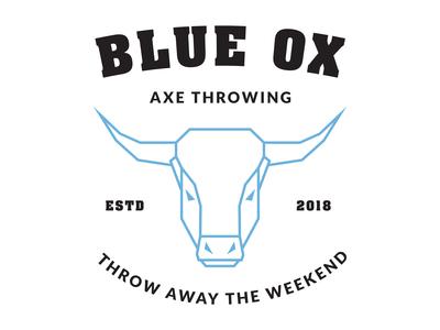 Blue Ox Axe Throwing Logo