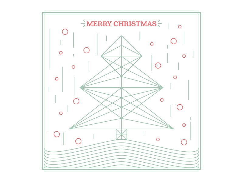 Merry Christmas 2019 linework shapes 2019 christmas tree christmas lineart line drawing vector illustration design graphic design