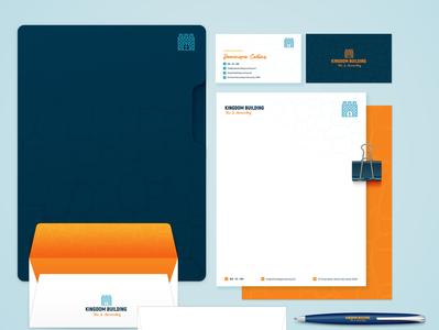 Kingdom Building Accounting Services stationary stationery branding graphic designer graphic  design design