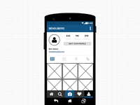 Instagram UI with Balsamiq