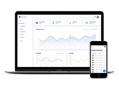 Healthcare Dashboard responsive design ui dashboard figma