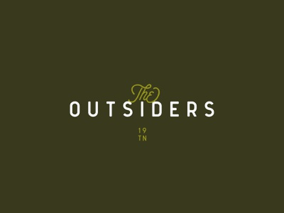 The Outsiders icon vector typography outline inspiration flat illustration branding design logo wordmark forest green natural nature tennessee outsiders outside